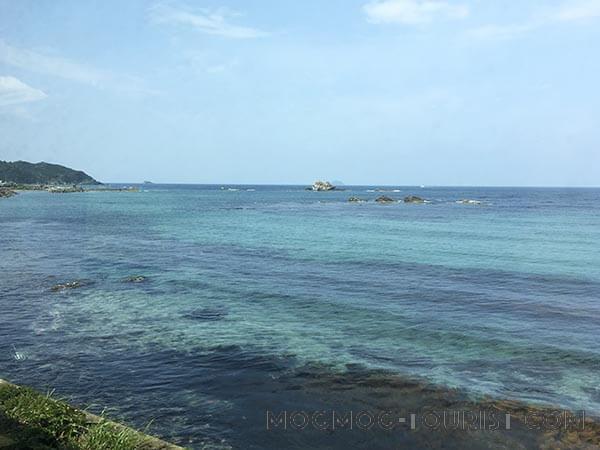 山陰本線から見た日本海