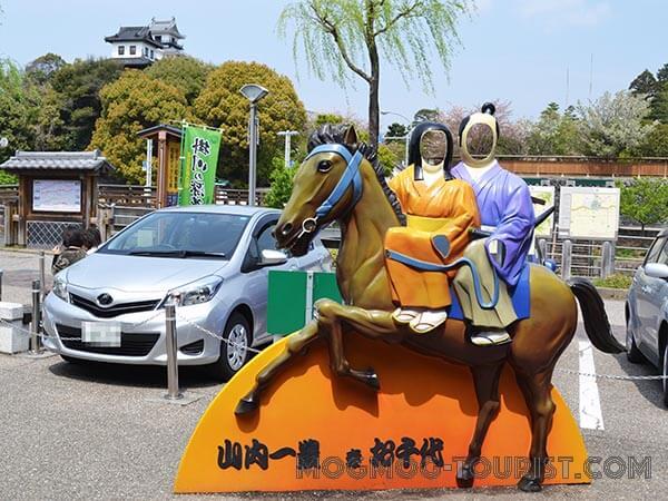 掛川城顔ハメパネル