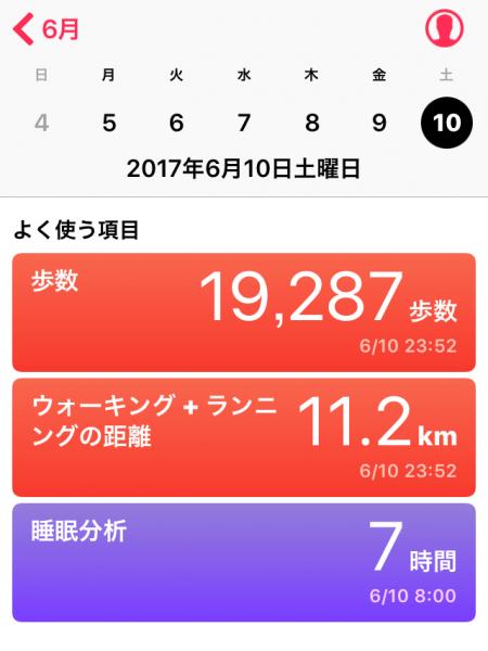 散歩記録20170612